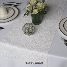 Lace Wedding Table Runner  Ivory by floratouch on Etsy, $8.00