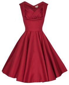 Lindy Bop 'Ophelia' Vintage Prom Swing Dress (M, Red) potential prom dress Vintage Red Dress, Vintage Prom, Vintage Mode, Vintage Style Dresses, Retro Dress, Vintage Outfits, Vintage Fashion, Vintage Clothing, Retro Vintage