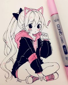 💕 # cliquez sur for Spooky Animation & Comicfigur Kostüm, Anime Halloween, Scary, Garotos, Go… – Site Today Anime Drawings Sketches, Anime Sketch, Kawaii Drawings, Manga Drawing, Manga Art, Cute Drawings, Copic Drawings, Anime Girl Pink, Kawaii Anime Girl
