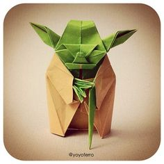 """Folda"" is Yoda's cousin, made of paper! #starwars"