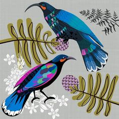 Heritage Gallery is the home of New Zealand art. Tui Bird, New Zealand Art, Jr Art, Maori Art, Mural Art, Bird Prints, Painting & Drawing, Folk Art, Fine Art Prints