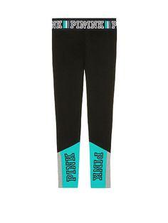 NWOT VICTORIA/'S SECRET PINK DARK GRAY BLACK SILVER BLING SEQUIN COTTON LEGGINGS