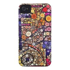 Colorful Circles Mosaic Southwestern Cross Design iPhone 4 Case SOLD on Zazzle