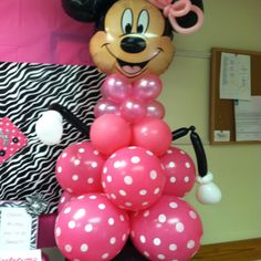 Minnie Mouse birthday balloons!