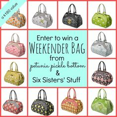 Enter to win a Weekender Bag from Petunia Pickle Bottom at SixSistersStuff.com.  If you have kids, this is the most amazing bag you will ever own! #giveaway #baby #style
