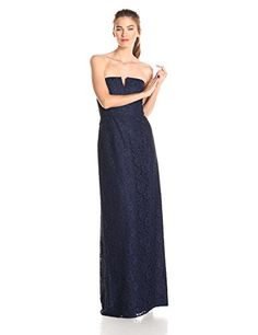 Donna Morgan Womens Reese Strapless Lace Gown Indigo 2 * Learn more by visiting the image link.