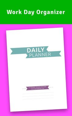 This Work Day Organizer for personal use at office or home. Fresh design for young and ambitious. #day #planner #organizer #task #custom Hourly Planner, Daily Planner Printable, Planner Layout, Life Planner, Best Daily Planner, Well Thought Out, Successful People, Paper Weights, Getting Organized