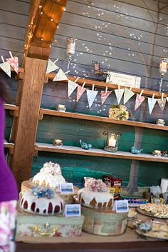 banners and bundt cake