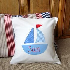 Nautical Boys Cushion Can Be Personalised