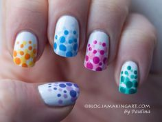 There are three kinds of fake nails which all come from the family of plastics. Acrylic nails are a liquid and powder mix. They are mixed in front of you and then they are brushed onto your nails and shaped. These nails are air dried. Dot Nail Art, Polka Dot Nails, Polka Dots, Cute Nail Designs, Pedicure Designs, Pedicure Ideas, Diy Nails, Cute Nails, Trendy Nails