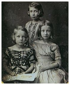 A sister and two brothers, ca. 1850