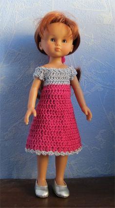 Vestido bicolor rosa y gris