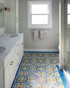 Small Bathrooms Cement Tile Bathroom Floor