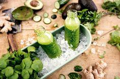 Das Rezept für Spinat-Smoothie mit allen nötigen Zutaten und der einfachsten Zubereitung - gesund kochen mit FIT FOR FUN