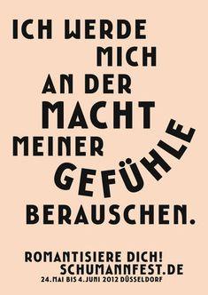 Gute Plakate :: Schumannfest Düsseldorf | www.guteplakate.de Typo Logo, Typography Layout, Typography Letters, Typography Poster, Graphic Design Typography, Graphic Design Illustration, Branding Design, Hand Typography, Typography Inspiration