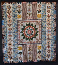 Gawthorpe Textiles Collection, Appliqué Coverlet Quilt, c.1790-1820