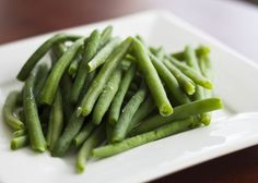 Cook the green beans with the meat or simmer in broth.