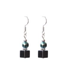 """Earrings with hematite from Collection """"Fenja""""by Ostfriesenkind"""
