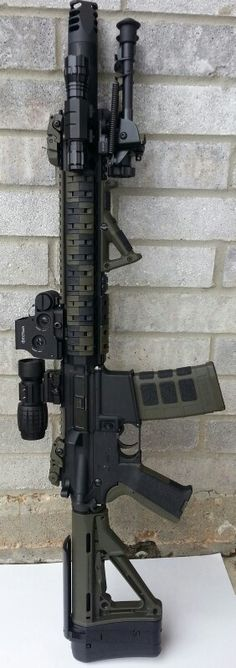 Now this is a beautifully put together masterpiece, AR-15 Rifle.