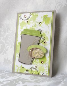 Stampin up, Coffee cafe, display stamper Card Making Inspiration, Making Ideas, Coffee Cards, Stampin Up Catalog, Marianne Design, Stampin Up Cards, Cricut Cards, Tampons, Card Kit