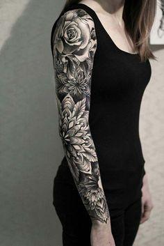 kadın kol dövmeleri mandala full arm tattoo for woman