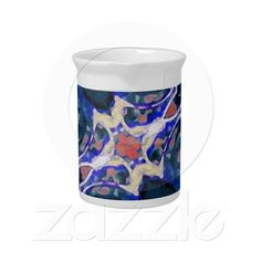 Decorative Retro Pitcher from Zazzle.com    decorative , blue , nature , retro , red , symmetric , female , flower , digital , elegant , decoration , women , teens , flowers , natural