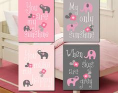 pink and grey nursery ideas - Google Search
