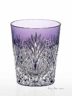 Sklenička na koňak * ručně broušené křišťálové fialové sklo * Crystal ♥