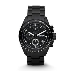 Fossil Mens CH2601 Decker Black Stainless Steel Chronograph Watch *** Learn more by visiting the image link.