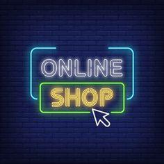 Neon Aesthetic, Quote Aesthetic, Neon Design, Logo Design, Logo Online Shop, Logo Boutique, Clothing Brand Logos, Neon Logo, Shopping Quotes