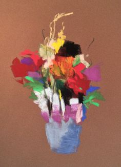 "Colors as Pickets Bouquet. 2015. Pastel. @18"" x 13."" Casey Klahn."