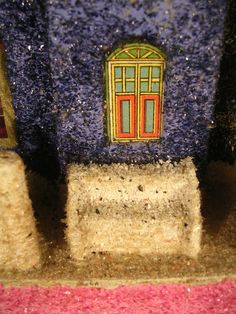 Vintage Christmas Village Cardboard LARGE COCONUT Putz House RARE WINDOW Japan in Collectibles, Holiday & Seasonal, Christmas: Vintage (Pre-1946), Villages & Houses | eBay