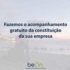 Quer constituir a sua empresa mas não sabe como o fazer? Nós ajudamos. #apoio #beon #empresas #negocios #consultoria