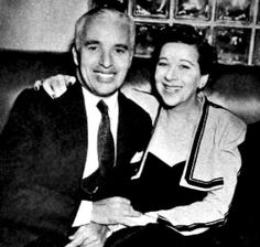 Charlie Chaplin and Fanny Brice
