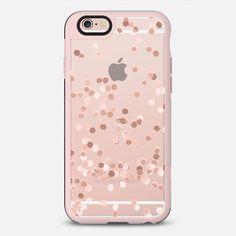 Transparent pink glitter case