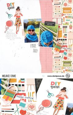 Scrapbooking Layout mit dem Februarkit | von Melanie Funke für www.danipeuss.de #danipeuss #scrapbooking #memorykeeping #papercrafting #basteln Project Life, Layout, Make Happy, Playing Cards, Scrapbook, Kit, Inspiration, Handmade, Crafts