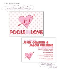 April fool wedding invitation