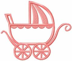 Baby carriage free embroidery design #Babycarriage #free #embroiderydesign #newborn #stitches #decoration