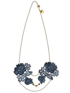 Vintage lace provides a fresh take on the multi-strand necklace concept. (from rebeccaanneallen.com)