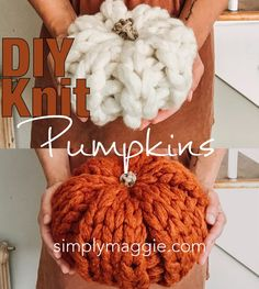 Chunky Knit Pumpkin Patterns