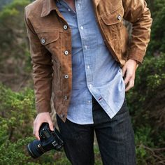Really like this jacket.  It's expensive but seems like it will last a long time.  The only issue is that it pretty much only goes with Jeans of Dark pants like Navy Chinos.  I think the jacket would look funny with khakis.