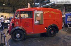 Morris J-Type Van Hot Rod Trucks, Old Trucks, Fire Trucks, Vintage Vans, Vintage Trucks, Classic Motors, Classic Cars, Old Lorries, Van Car