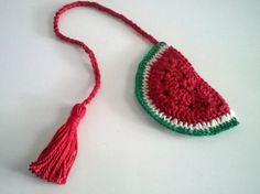 Marcador de Páginas Melancia - Crochê