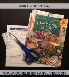 A blog post explaining the Interactive Read Aloud for How to Last Day Blues by Julie Danneberg. It includes lesson plans, in-depth comprehension, retelling worksheets, mini-charts and a class book keepsake for the teacher. Perfect for K-2. This resource will make planning your IRA fast and easy. It even meets the common core and is just print and go and has a template and detailed directions for printing on sticky notes. Your kids are going to love this one!