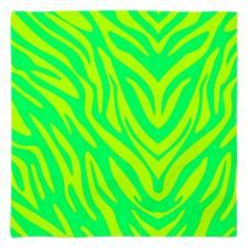 Green Zebra Stripes Bandana