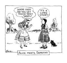 Alice meets Dorothy