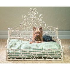 Old World Antique Scroll Pet Bed