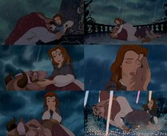 Beauty and the Beast. My heart breaks every single time. I will forever hold this scene dear.