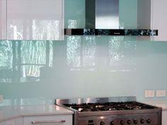 glaspanel kök