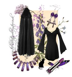"""Aconite"" by theblackcatjewellerystore ❤ liked on Polyvore featuring women's clothing, women, female, woman, misses, juniors, jewelry, jewellery and handmade"